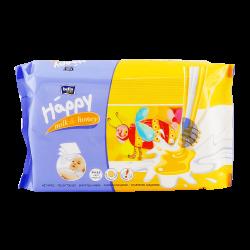 Chusteczki nasączone BELLA BABY HAPPY Mleko i miód x 64 sztuki