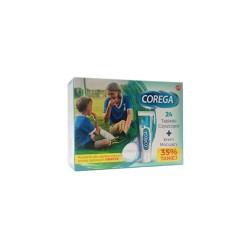 Zestaw Corega, tabletki czyszczące 24 sztuki + Krem mocujący Corega Super Mocny 40g