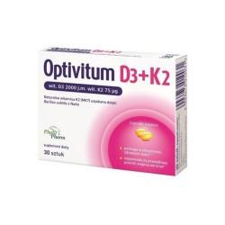Optivitum D3 + K2 kapsułki miękkie ,30 kapsułek, PHYTOPHARM