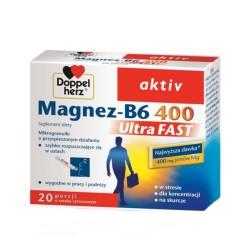 Doppelherz aktiv Magnez-B6 UltraFAST, 20 saszetek, QUEISSER
