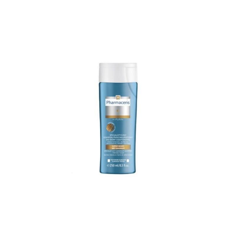 PHARMACERIS H PURIN OILY Szampon przeciwłupieżowy do skóry łojotokowej łupież mokry 250 ml