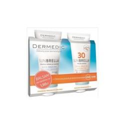 DERMEDIC SUNBRELLA Chłodzący balsam po opalaniu + Mleczko ochronne SPF 30+, 200 g + 200 g