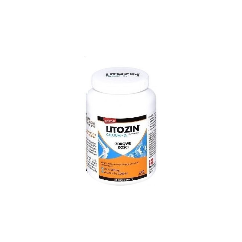 Litozin Calcium + D3 tabletki, 120 tabletek, ORKLA