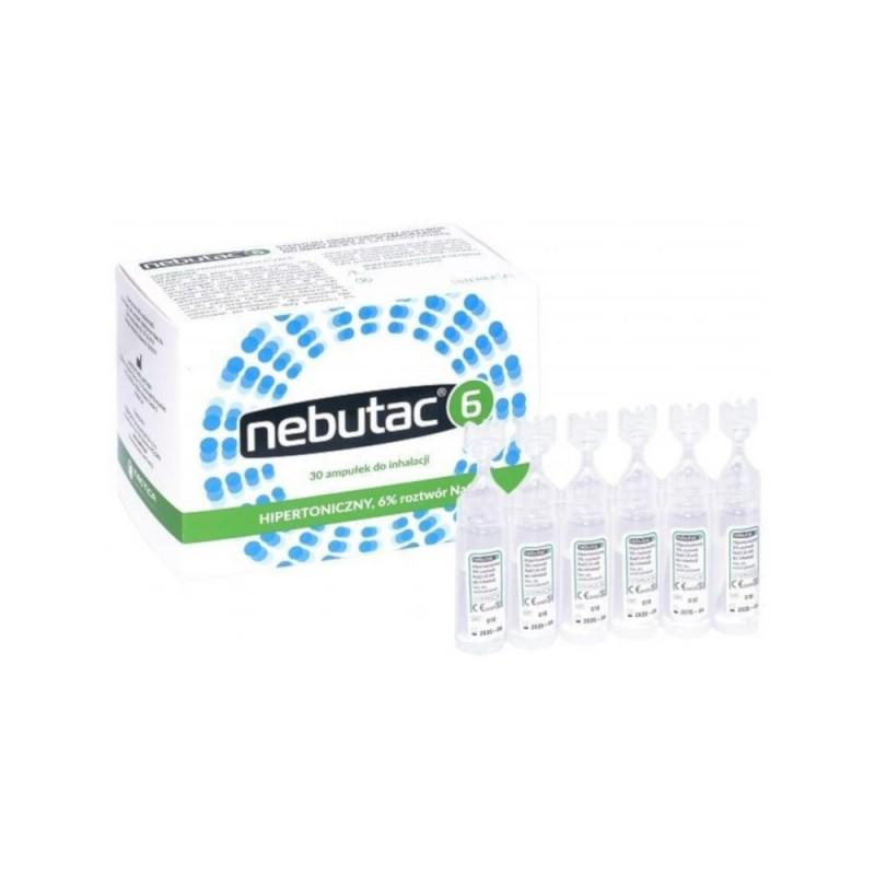 Nebutac 6, hipertoniczny roztwór do inhalacji  6 % 30 ampułek a 4ml, TACTICA