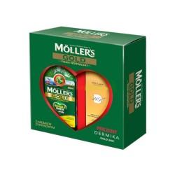 Moller's Gold Tran Norweski osmaku cytrynowym 250ml + Dermika Gold-K 50 ml krem-maska gratis