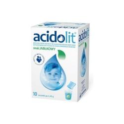 Acidolit smak jabłkowy proszek do przygotowania roztworu, 10 saszetek, POLPHARMA
