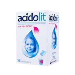 Acidolit smak malinowy proszek do przygotowania roztworu, 10 saszetek, POLPHARMA