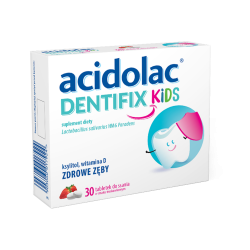 Acidolac Dentifix Kids, 30 tabletek do ssania, POLPHARMA