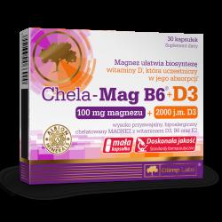 Chela-Mag B6+D3 , 30 kapsułek , Olimp Labs