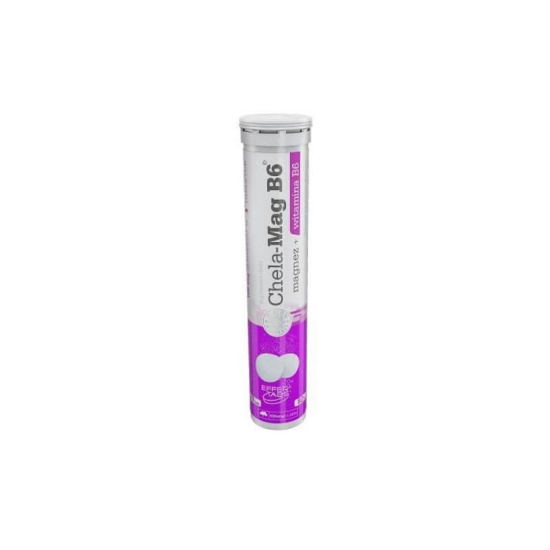 Chela-Mag B6 magnez+witamina B6 tabletki musujące 20szt, Olimp Labs