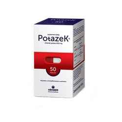 Potazek chlorek potasu 50 kapsułek , Adamed