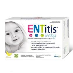 ENTitis Baby Proszek smak bananowy, 30 saszetek