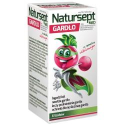 Natursept MED, lizaki na gardło, smak wiśniowy, 6 sztuk, Aflofarm