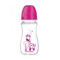 Butelka antykolkowa, szerokootworowa, Easy Start, Kolorowe Zwierzęta 300ml, CANPOL 35/204