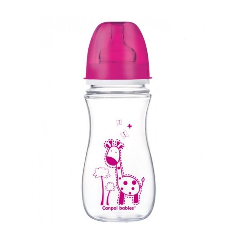 CANPOL Butelka antykolkowa, szerokootworowa, Easy Start, Kolorowe Zwierzęta 300ml