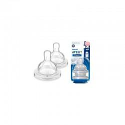 PHILIPS AVENT CLASSIC+, 3m+, smoczki do butelki, o regulowanym wypływie, 2 sztuki