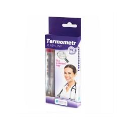 Termometr klasyczny, szklany z efektem lupy, 1 sztuka