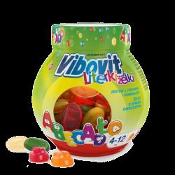 Vibovit Literki żelki smak owocowy z witaminami, 50 sztuk