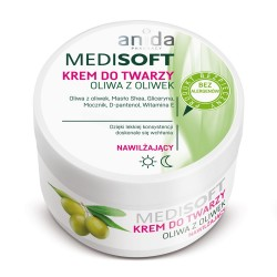 ANIDA MEDISOFT, Regenerujący krem do twarzy, oliwa z oliwek, 100 ml