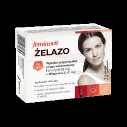 Feminovit Żelazo, 30 tabletek powlekanych, Salvum
