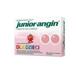 Junior-angin d/dzieci truskaw. x 24tabl.