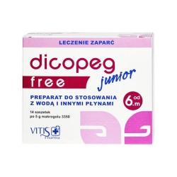 Dicopeg Junior Free, proszek, 5 g, 14 saszetek, Vitis Pharma