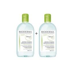 BIODERMA SEBIUM H2O Płyn micelarny do oczyszczania twarzy i zmywania makijażu 500 ml +500 ml