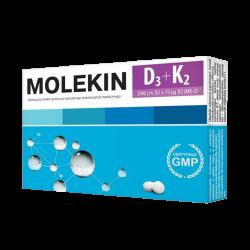 Molekin D3 + K2, 30 tabletek powlekanych, ZDROVIT