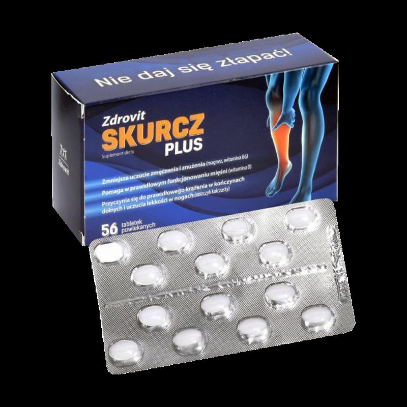 Skurcz Plus, 56 tabletek powlekanych, Zdrovit