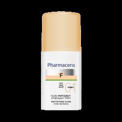 PHARMACERIS F Fluid matujący zwężający pory SPF25 IVORY 01 30 ml