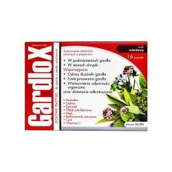 Gardlox, pastylki do ssania, ziołowe o smaku wiśniowym, 16 sztuk, S-LAB