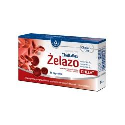 Chellaflex Żelazo kaps. 36 kaps.