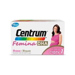 Centrum Femina DHA w trakcie ciąży 1 tabl