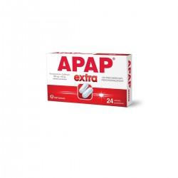 Apap Extra, 500 mg + 65 mg, 24 tabletek