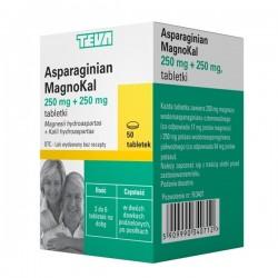 Asparaginian MagnoKal 250mg+250mg, 50 tabletek