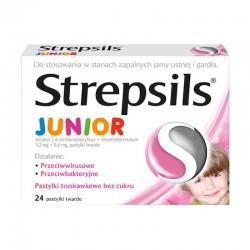 Strepsils Junior , pastylki do ssania dla dzieci bez cukru, 24 pastylek