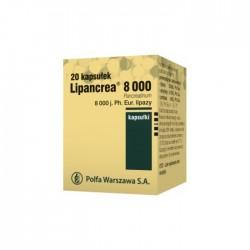 Lipancrea, 8000 j. lipazy, 20 kapsułek