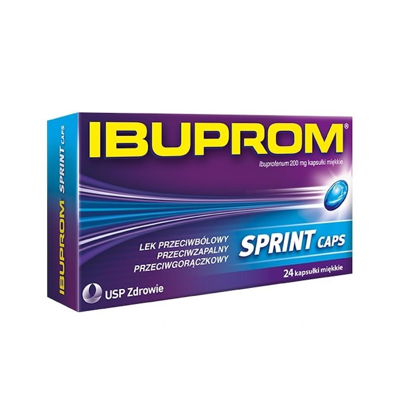 Ibuprom Sprint Caps 200mg, 24 kapsułki