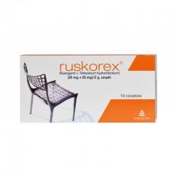 Ruskorex, (25 mg+25 mg)/2g, 10 czopków