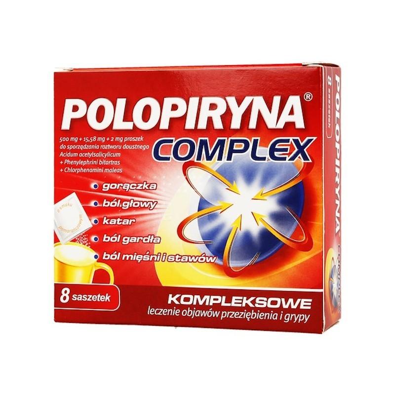 Polopiryna Complex, proszek  do sporządzania roztworu doustnego, 8 saszetek