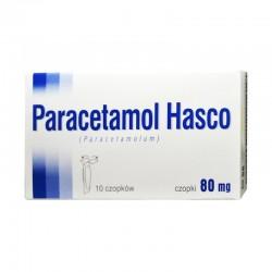 Edytuj: Paracetamol Hasco, 80mg, 10 czopków