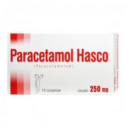 Paracetamol Hasco, 250mg, 10 czopków
