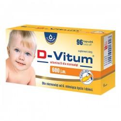 D-Vitum, witamina D dla niemowląt 400j.m., 96 kapsułek
