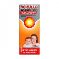 Nurofen dla dzieci Forte truskawkowy, 40mg/ml, zawiesina doustna, 100 ml