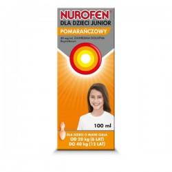 Nurofen Junior, 40mg/ml, zawiesina doustna dla dzieci od 6 do 12 lat, smak pomarańczowy, 100ml
