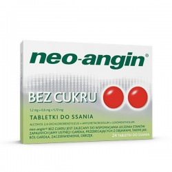 Neo-Angin bez cukru, 24 tabletki do ssania