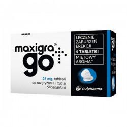 Maxigra Go 25mg, 4 tabletki do żucia