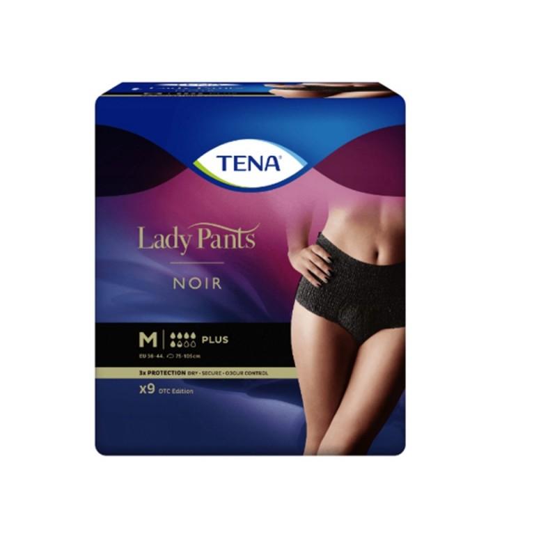 Majt.ch.TENA Lady Pants Plus Noir M 9szt