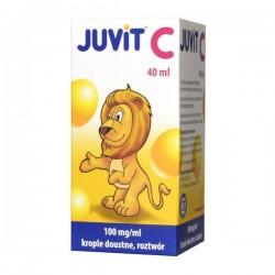 Juvit C 100mg/ml, krople dla dzieci od 28 dnia życia, 40ml