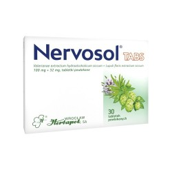 Nervosol Tabs, 100 mg + 32 mg, tabletki powlekane, 30 sztuk, HERBAPOL
